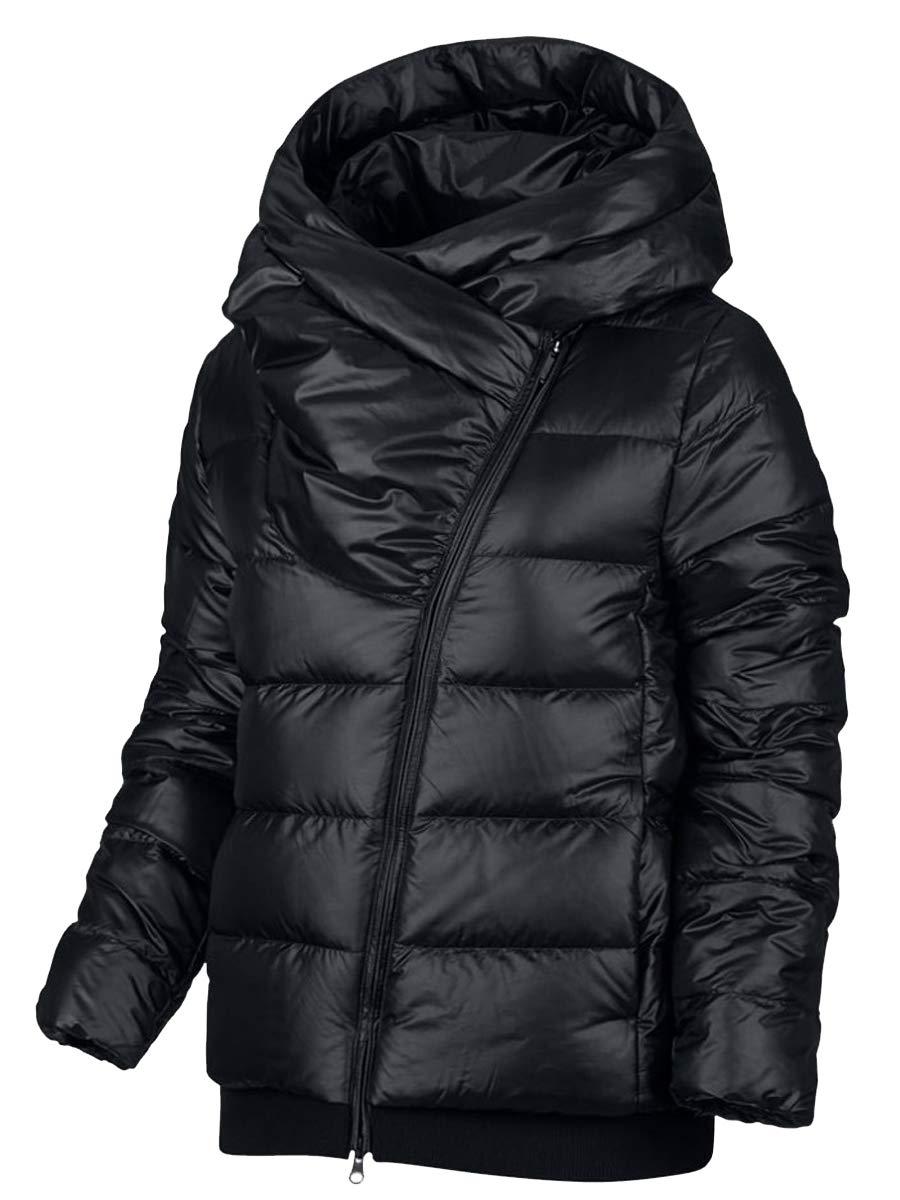 NIKE Womens Sportswear Puffer Down Filled Jacket Coat (X-Small, Black) by Nike