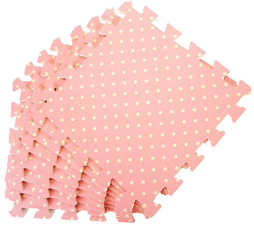 9 x dalles en mousse / tapis de jeux / fond de parc / mousse dalles bébé / tapis puzzle mousse pour enfant 30cm*30cm*1cm (rose) générique