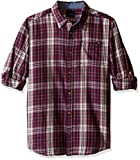 Lucky Brand Big Boys' Patriot Long Sleeve Plaid Sport Shirt, Peacoat, 7