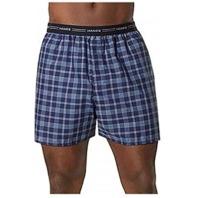 Hanes Men's Plaid Fashion Waistband Boxer 3-Pack (Medium, Assorted Plaid Exposed) at Men's Clothing store