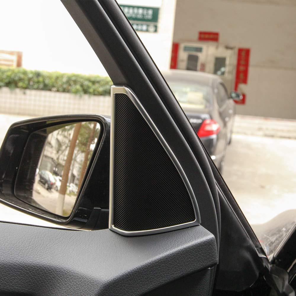 YUECHI ABS Chrome Car Door Tweeter Speaker Audio Decoration Frame Trim 2pcs for Mercedes Benz GLK X204 2009-2016