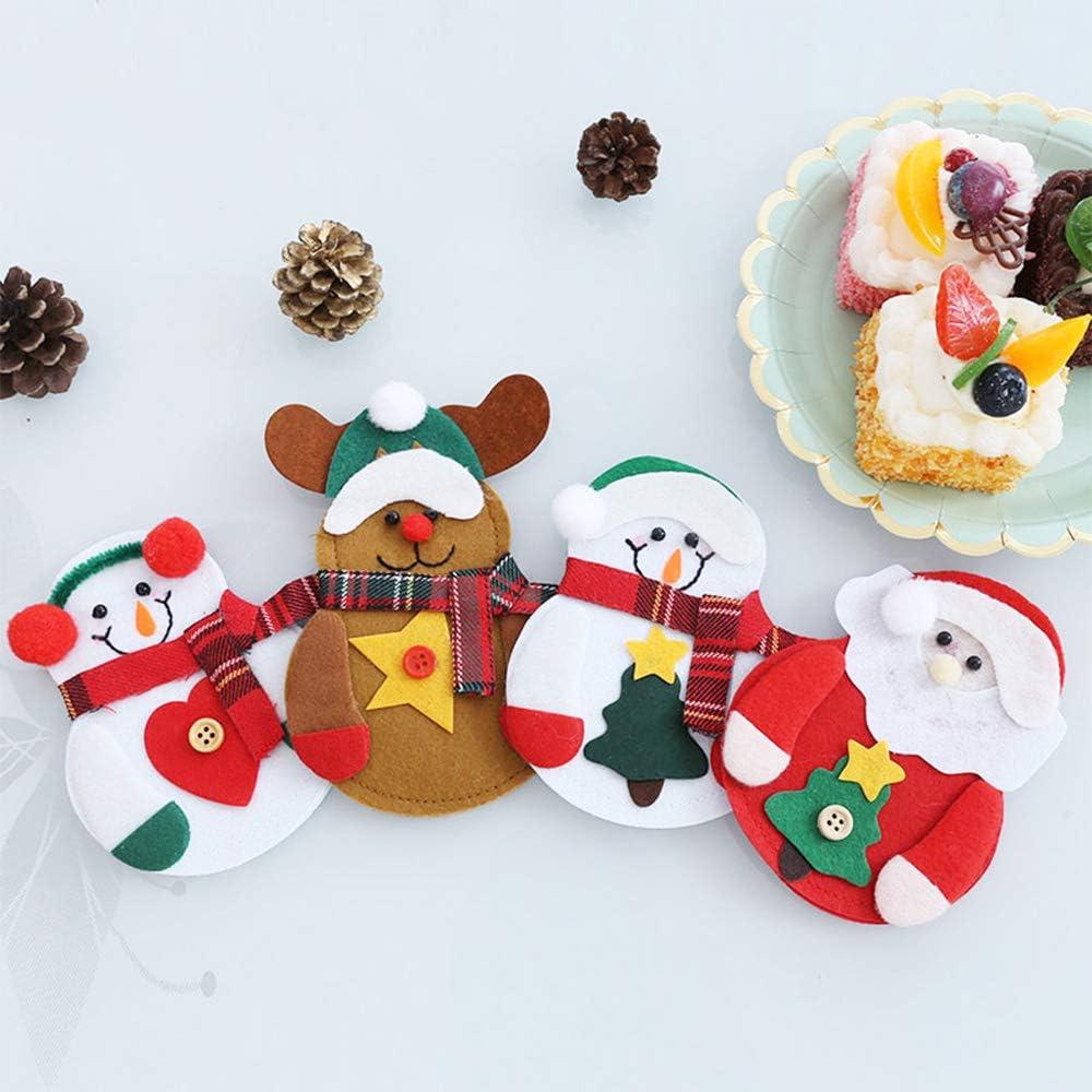 2 pezzi. Set di 3 copribottiglia natalizie con Babbo Natale e pupazzo di neve Plaid a strisce