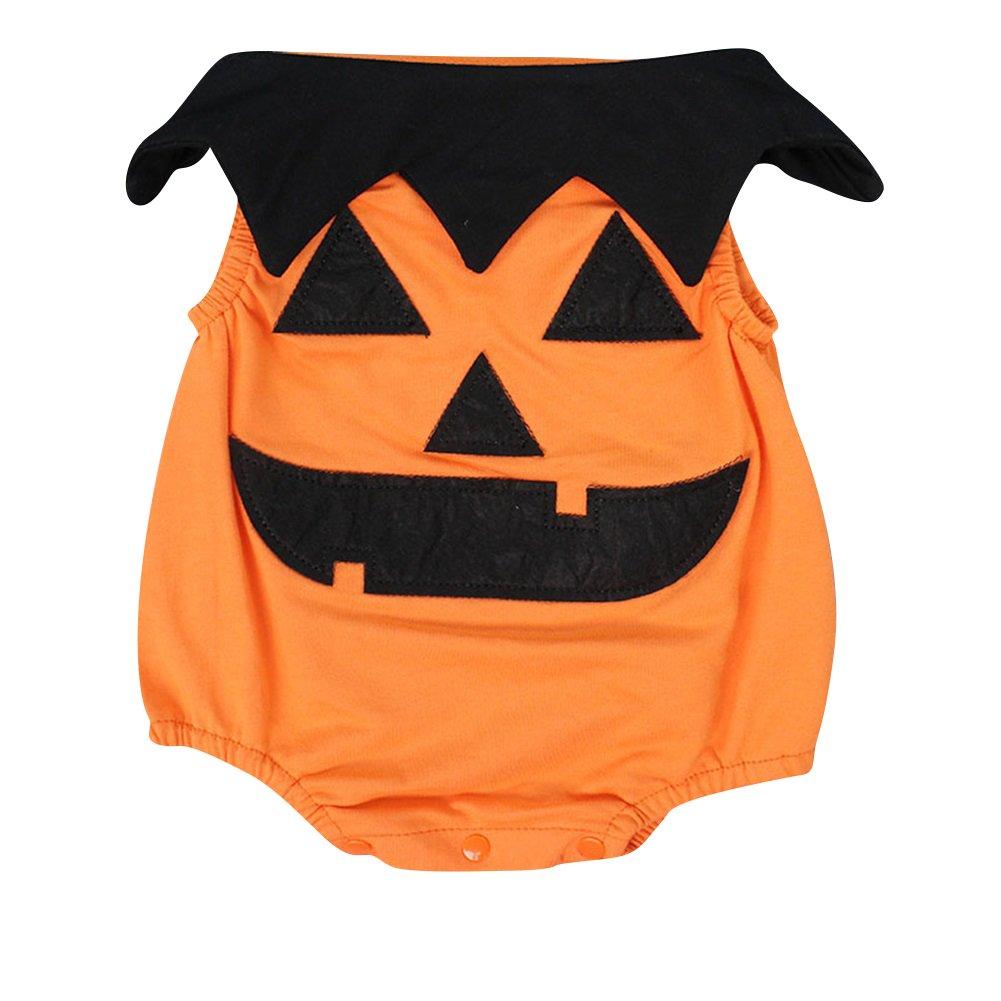 Le SSara Bambino inverno zucca Halloween pagliaccetto neonato Body Costume abiti 3 pz 0-6 Mesi, Orange