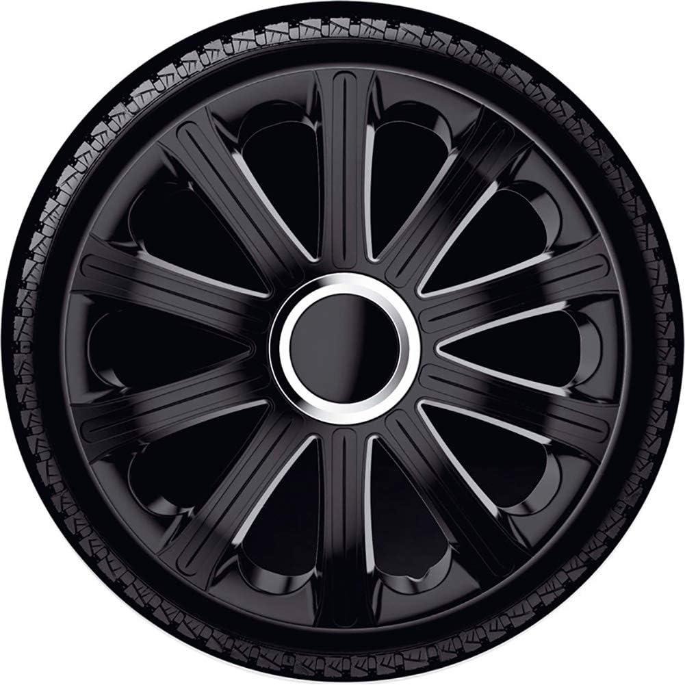 J Tec J15597 Satz Radzierblenden Modena 15 Zoll Schwarz Chrom Ringe Auto