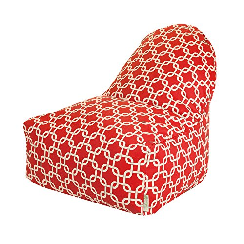 Majestic Home Goods Kick-It Chair, Red Links