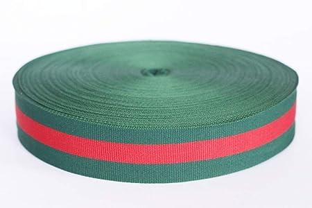 bb0a5ca0d5d Amazon.com  30 mm Green Red Striped Ribbon Trim