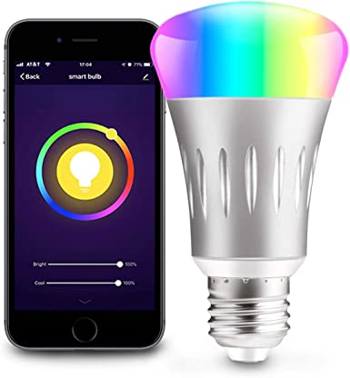 Wifi Smart LED Light Bulb RGB Dimmable App Control for Amazon Alexa//Google Home