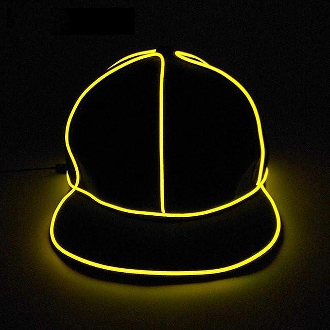 Hombres Snapback Hat Up Light Large LED De Sombrero Luminoso ...