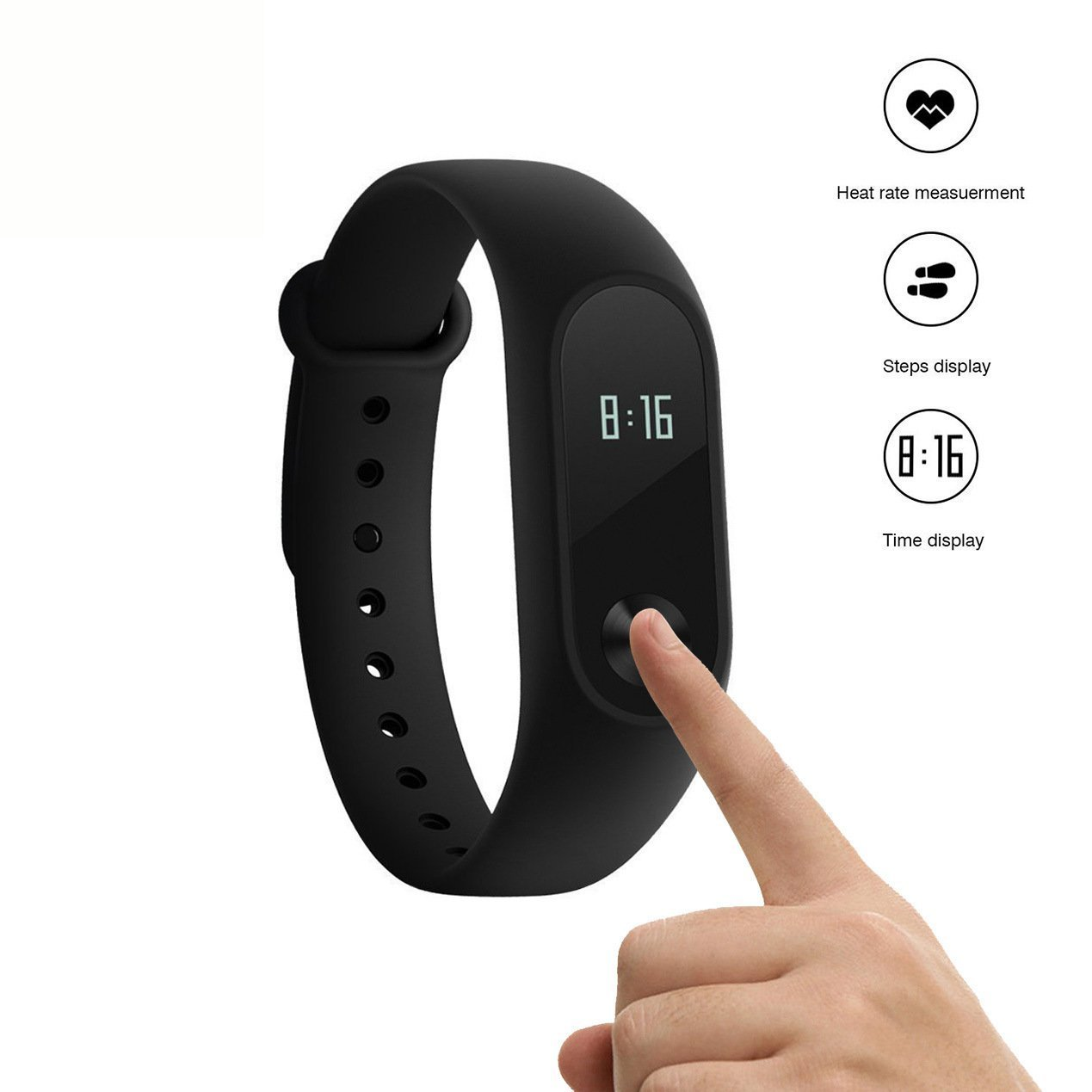 Xiaomi Mi Band 2 Armband Aktivitä ts Tracker Herzfrequenzmesser Internationale Version 602693350143