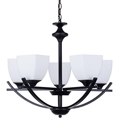 Alice House 24 Chandeliers For Dining Room Matte Black Color 5 Light With 72 Chain Kitchen Fixtures Modern Farmhouse Lighting AL12077 H5