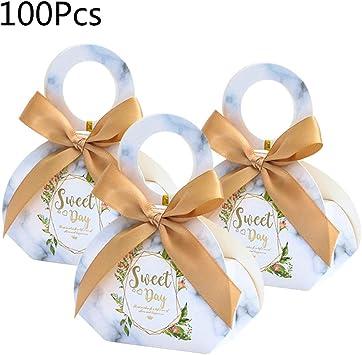 Wanghuaner 50 / 100Pcs Caja de dulces de boda con cajas de ...