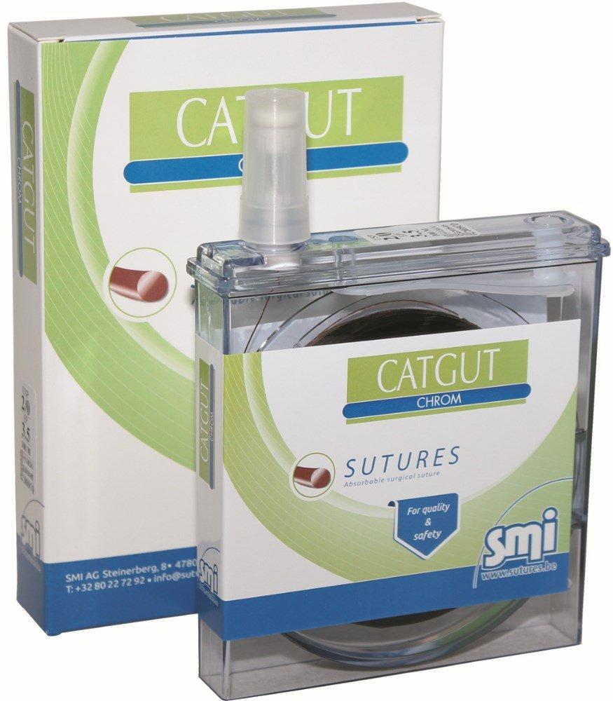 SUTURA SMI CATGUT CHROM EN CASSETTE (COLAGENO, USP 6; EP 10 ...
