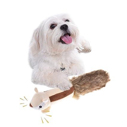 iBaste Juguetes para Perros Pet Squeak Masticar Juguetes Puppy Dog Peluches Puppy Dentición Ardilla Skunk Juguetes