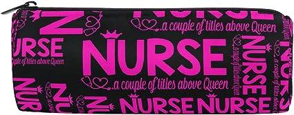 Estuche para lápices de enfermera, para estudiantes de enfermería, estuche de papelería, bolsa de cosméticos: Amazon.es: Oficina y papelería