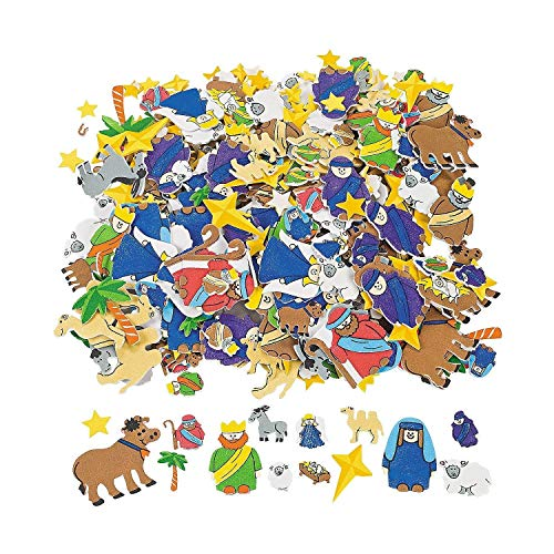 Fabulous Foam Self-Adhesive Nativity Shapes - Art & Craft Supplies & Foam Shapes -