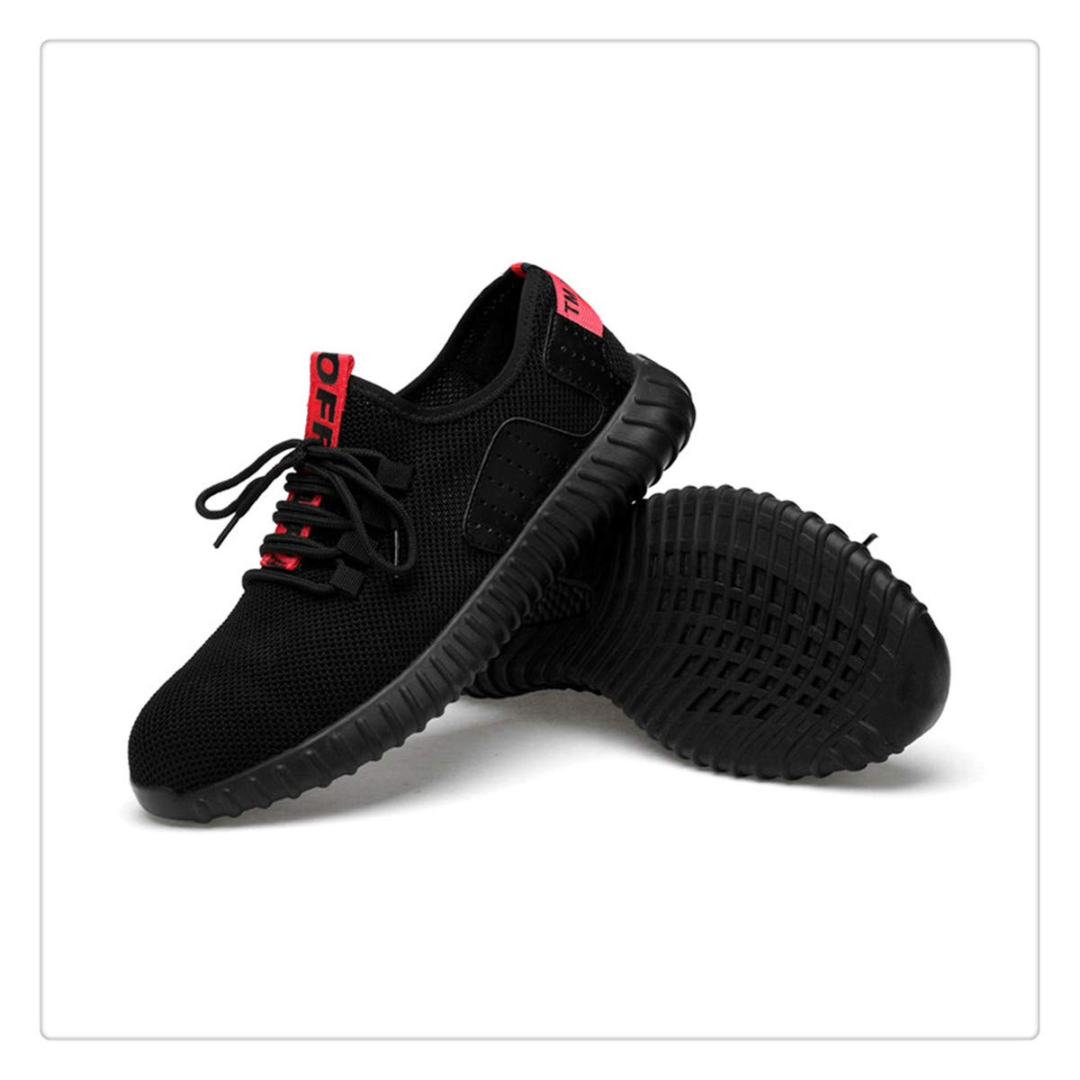 Hngchangji Safety Breathable Flying Woven Anti-Smashing Steel Toe caps Anti-Piercing Shoes