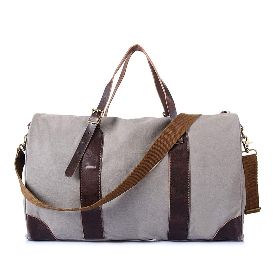 MATCHANT Canvas Travel Bags Canvas Luggage Bags Oversized Travel Bags Handbags Shoulder Bags Messenger Bags Large Capacity Travel Bags Color : Silver White