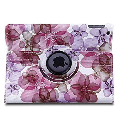 TOPCHANCES 360 Degrees Rotating Stand Luxury PU Leather Case for iPad Air/iPad 5(A1219) with Smart Cover Wake/Sleep Function (Pink Lucky Flower) by TOPCHANCES (Image #5)