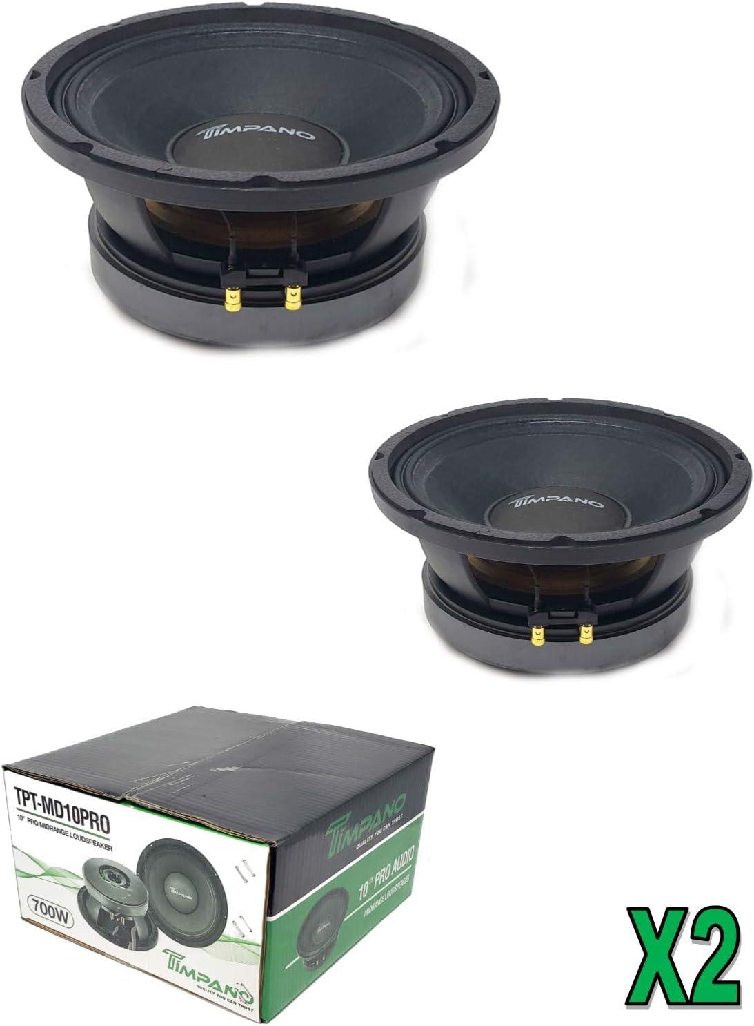 """2 x Timpano TPT-MD10PRO 10"""" mid Range Pro Audio Loud Speaker 1400 Watts 8 ohm"""