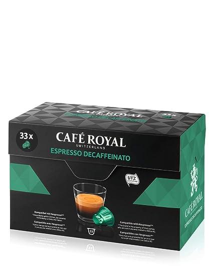 Café Royal Espresso Decaffeinato 132 cápsulas compatibles con Nespresso* Intensidad: 3 de 10 (