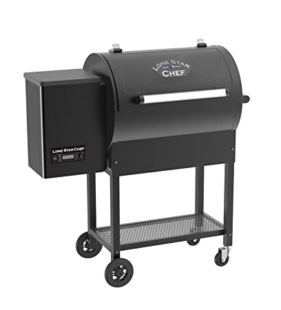 Lonestar Chef SCS-P380 Wood Pellet Grill, One Size, Black, 380 Square Inch  Cooking Area,