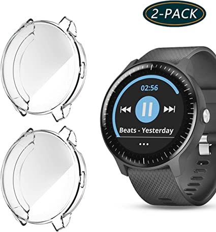 KPYJA Compatible with Garmin Vivoactive 3 Music Screen Protector, Soft Plated TPU Scratch-Proof Full Protective Protector Case Cover for Garmin ...