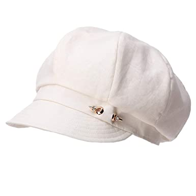 Women Linen Newsboy Hats Visor Beret Summer Caps Girls Spring Painter Gavroche Vintage Elegant Gorras,
