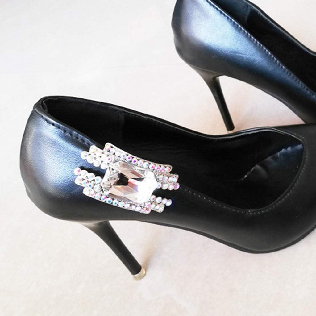 BASSK 2 pi/èces//ensemble de clips de chaussures talons hauts ornements dames et dames chaussures de charme bijoux bricolage boucle strass flash luxe