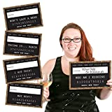 Gold New Year's Eve Party Mug Shots - New Years Resolutions Photo Booth Props Party Mugshot Signs - 20 Count