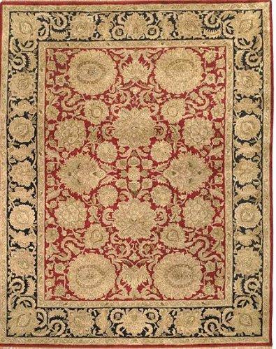 Classic Burgundy/Black Kashan Rug Rug Size: 4' x 6'