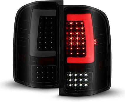 Sequential Signal Black Smoked Tail Brake Light C-Tube Bar Fit 07-13 14 Siverado 1500 2500HD 3500 HD Sierra 3500HD LED