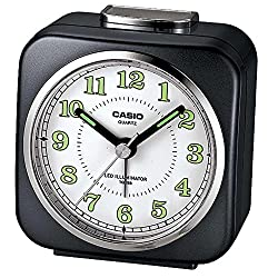 Casio Tq-158-1 Table Top Travel Alarm Clock Black