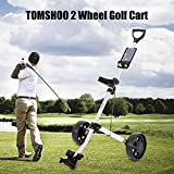 TOMSHOO-Golf-Cart-Foldable-2-Wheels-Push-Cart-Aluminum-Pull-Cart-Trolley