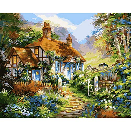 Wooden Adult Puzzle 1000 Pieces DIY Art Puzzle Cottage in The Garden Leisure Creative Crossword Game Children's Educational Toys