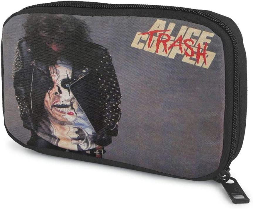 Zengqinglove Alice Cooper Stylish Data Cable Charger Cable Earphone Cable Storage Bag