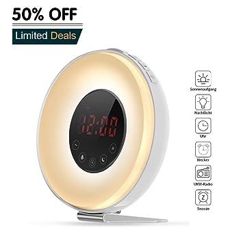 Aipker - Despertador con luz, función de repetición de ...
