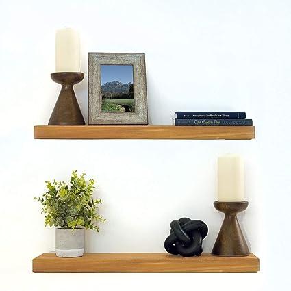 Amazoncom Floating Shelves Wood Floating Shelves Set New England