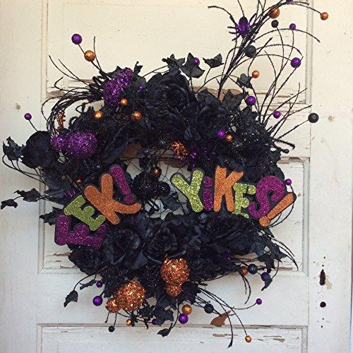 AGD Halloween Decor - Black Roses EEK Yikes
