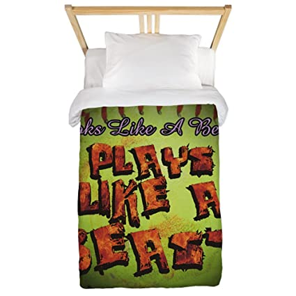 2fda2dd15f81f8 CafePress Plays Like A Beast Fastpitch Softball Twin Duvet Twin Duvet  Cover, Printed Comforter Cover