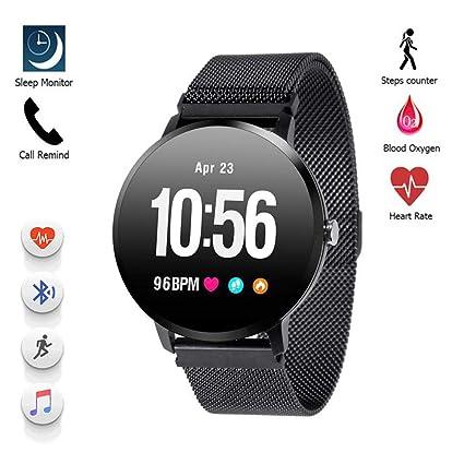 Amazon.com: Konnison-09 Smart Watch IP67 Waterproof Tempered ...