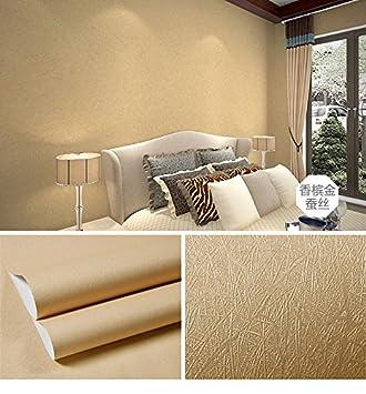 REAGONE Der Einfachen Idee, Die Aus Reinem Gold Farbe Frische Tapete  Selbstklebende Schlafzimmer Gemütlich Und