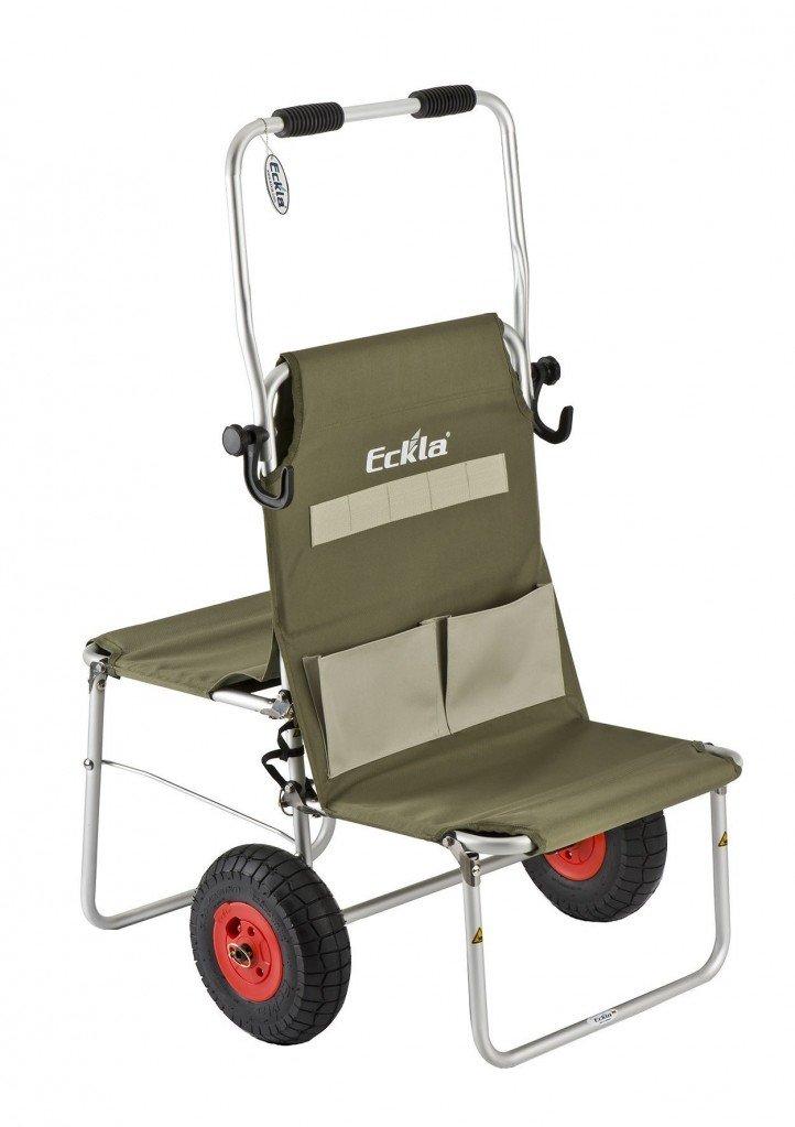 Eckla Multi-Rolly / Transporthelfer für Fotografen, Angler, Sportschützen und mehr / Farbe: oliv/grün/ Lufträder 260 mm