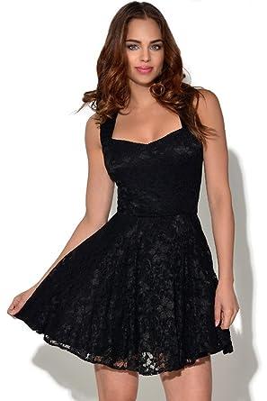 4ec054d90f25 Lace Skater Dress  Amazon.co.uk  Clothing