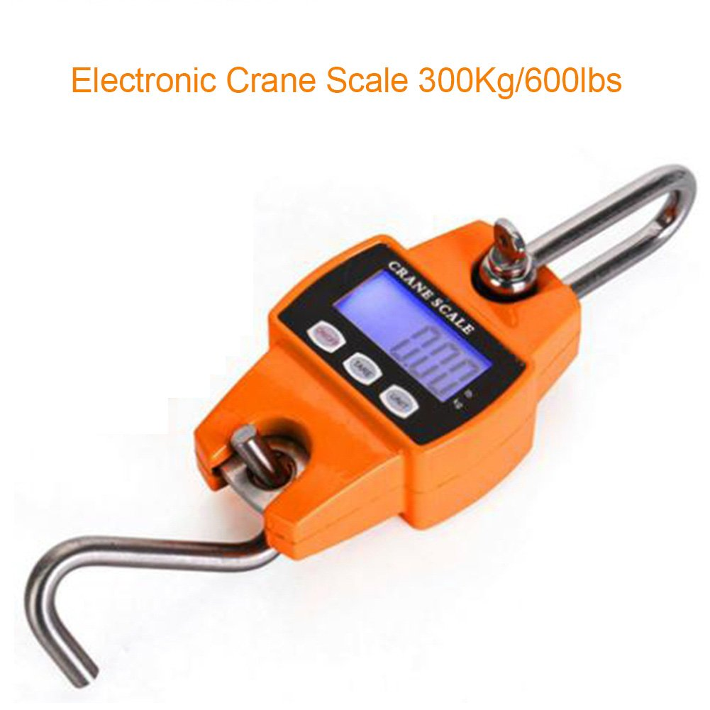 Portable Digital Crane Scale 300kg 600lbs With Led Tach Adapter Wiring Screen Aluminum Case Batteries Are Not Included Industrial Scientific