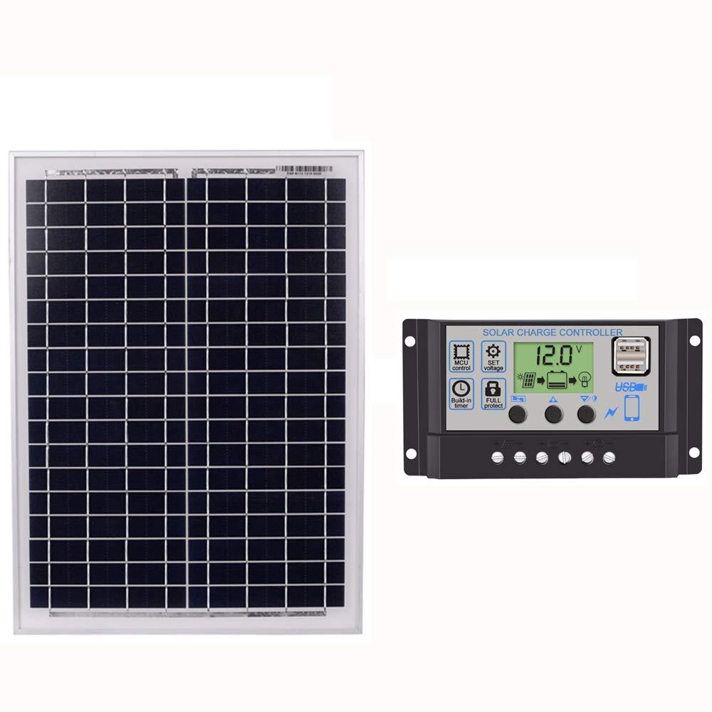 24V Con Interfaccia USB 60A Cikuso Pannelli Solari Neri 18V20W Regolatore Solare 60A 12V