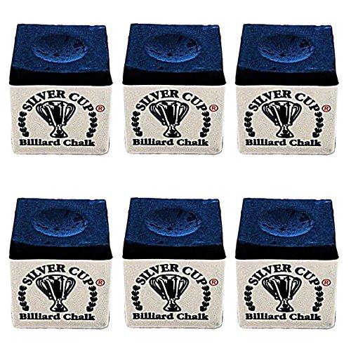 Half Dozen Royal Blue Silver Cup Pool Cue (Royal Blue Pool)