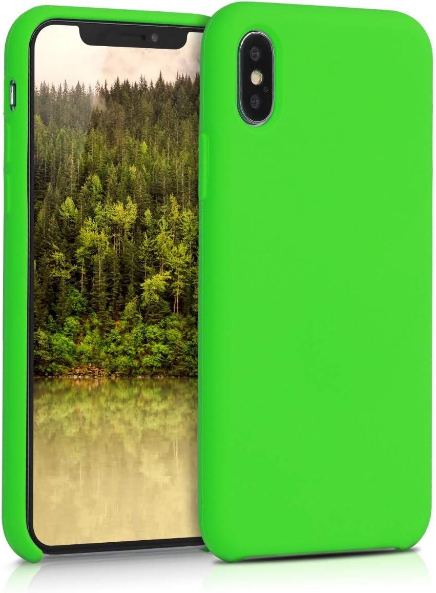 Cover Trasero en Verde Menta kwmobile Funda Compatible con Apple iPhone X Carcasa de TPU para m/óvil