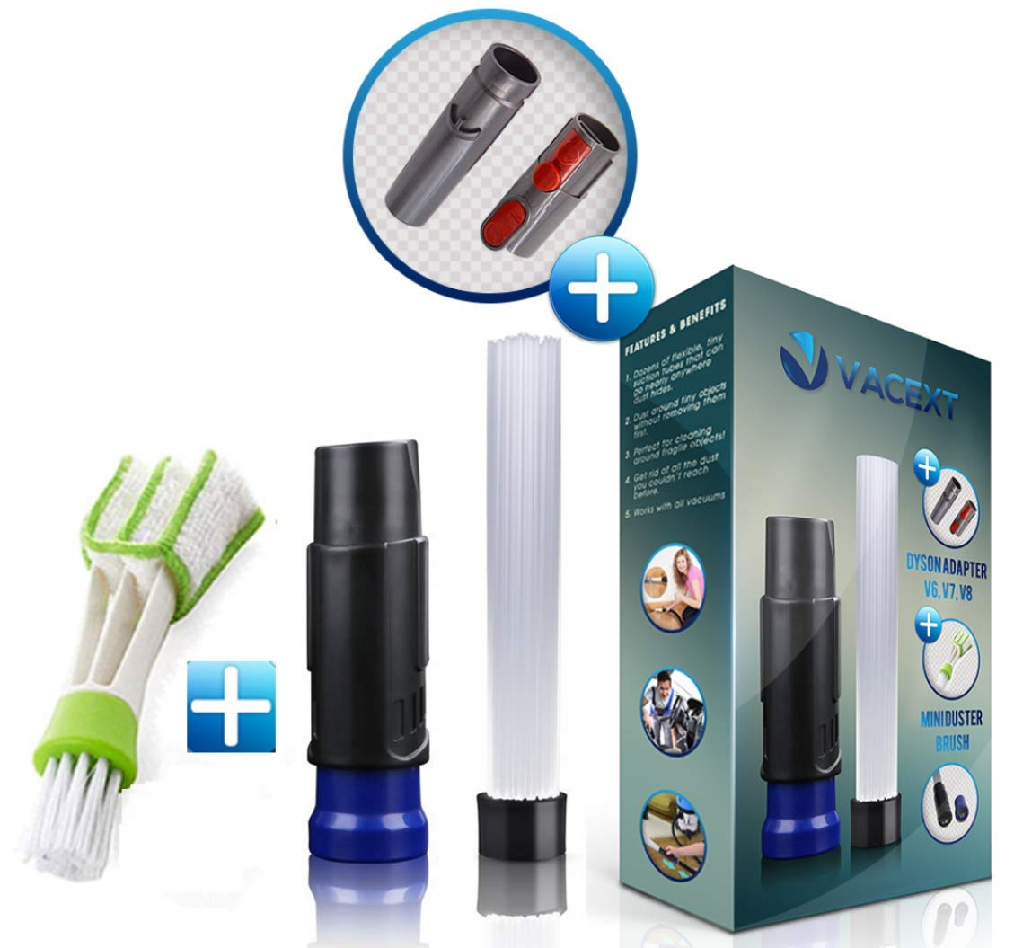 Amazon.com - VACEXT Vacuum Attachments with Universal Adapter Dusty Brush  with Suction Tiny Tubes Flexible Access to Anywhere, Master Duster Cleaning  Tool ...