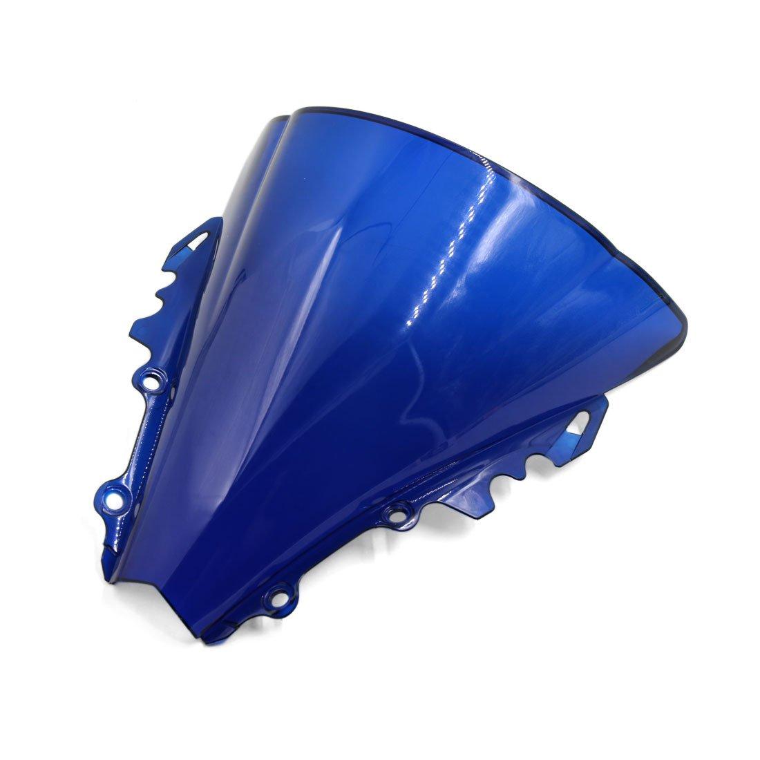 sourcingmap Moto en plastique bleu pare-brise pare-brise avant pour YZF R6 2006-2007