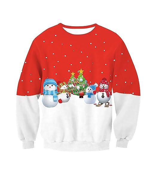 Sudaderas Mujeres Sin Capucha Fiesta Navidad Estampadas Patrón Elegantes Sweatshirt Xmas Manga Largo Cuello Redondo Pullover Anchas Sudadera Tops Camisetas ...
